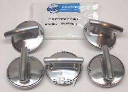 74007733-5 PACK Burner Knob for Jenn Air Gas Range Cooktop PS2375871 AP5668987
