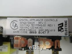 7601P548-60 Jenn-Air Maytag White Stove Range Control 1 Year Guarantee