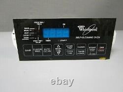 A1 Whirlpool Range Control Board with Black Overlay (TESTED GOOD) 8522477 ASMN