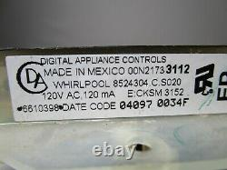 A1 Whirlpool Range Oven Control Board with Black Overlay 6610398 14D21730101 ASMN
