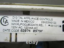 A1 Whirlpool Range Oven Control Board withWhite Overlay (TESTED GOOD) 6610312 ASMN