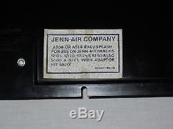 Black Jenn-air Back Splash With Light For Downdraft Stove Oven Range Fluorescent