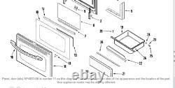 C6/OVHSHW1 Surface Jenn-Air Range Stove Factory Skin 74008913 Outer Panel