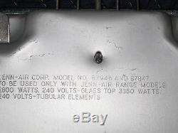JENN-AIR MODEL 87946 & 87847 WHITE GLASS TOP CARTRIDGE COOKTOP RANGE