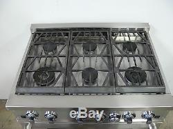 JENN-AIR PRG3610NP 36 PRO STYLE RANGE STOVE With 6 BURNERS & OVEN STAINLESS STEEL