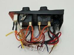 Jenn-Air CVE4370B Range Main Left Side Eye Burner Electric Control 4 Knob Panel