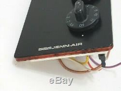 Jenn-Air CVE4370B Range Right Side Eye Burner Electric Control 2 Knob Panel