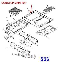 Jenn-Air / Maytag Oven Range Cooktop # 74011501, 2002X202-81, AP4393363
