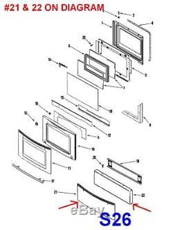 Jenn-Air / Maytag Oven Range Drawer Panel Assembly #74011544, 74011506, 74011642