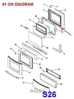 Jenn-Air / Maytag Oven Range Inner Door Lining # 74003642, AP6007396, JDR8895AAS