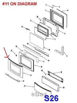 Jenn-Air / Maytag Stove Oven Range Door Glass Assembly # 74011510, AP4100209