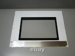 Jenn-Air Range Oven Outer Door Glass, White & Black 74008684 ASMN