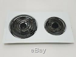 Jenn-Air Removable Stove Burner Panel Model A100 Color White Range Cooktop Eye