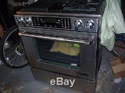 Jennair stove duel fuel range oven with grill downdraft stainless gas electric