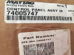 L@@K. Genuine OEM 74005747 Jenn-Air Range Control Panel Assembly (blk)