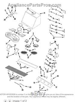 Maytag Jenn-Air Range Stove Whirlpool Vent Motor 49001197