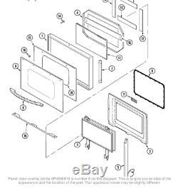 Maytag Surface Jenn-Air Range Stove Factory 74006826 SS Door Overlay