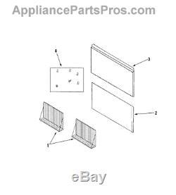 Maytag/Whirlpool/Jenn-Air Range Hood Backsplash Kit JXA9003CDP Everything Incl