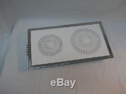 RARE JENN-AIR MODEL 87946 AND 87847 WHITE GLASS TOP CARTRIDGE FOR COOKTOP RANGE