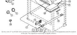 So Oven Jade Jenn-air Range Stove Burner Tube 73001036