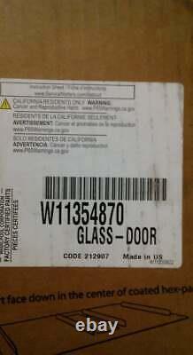 W11354870 Whirlpool Glass-door OEM Stainless Outer Glass Range Door